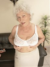 This lovely old nympho sure knows to please herself