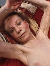 Redhead granny Linda tests her sexual stamina as she goes for a wild fuckfest in this oldie porn live
