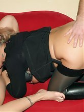 Mature wife Christina surprises her husband with a pretty younger woman named Silvia
