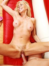 Erica Lauren shows a younger man that she can still ride a dick and gets facialized
