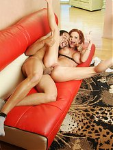 Crystal White shows us her gorgeous mature assets while fucking and draining a cock